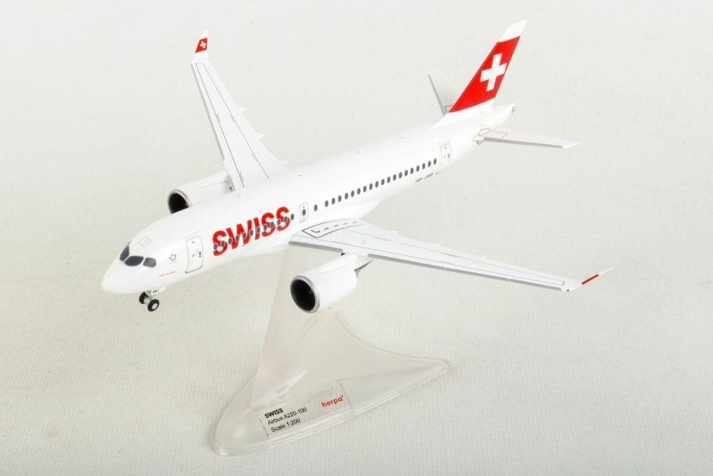 Herpa Wings 1:200  Airbus A220-100  Swiss  HB-JBB  558471-001  Modellairport500