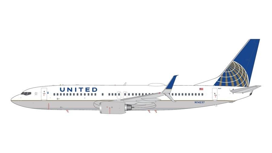 GeminiJets 1//200 737-800 N14237 United Airlines