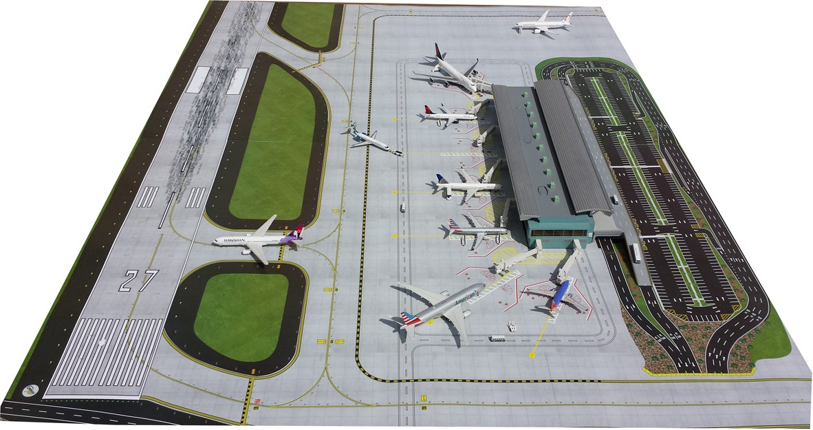 New Improved Airport Mat Set 2 Piece Gemini Jets