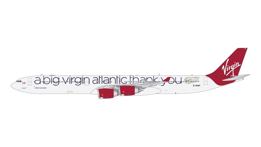 GEMINI JETS 1766 VIRGIN ATLANTIC AIRBUS A340-600 reg G-VNAP 1-400 SCALE