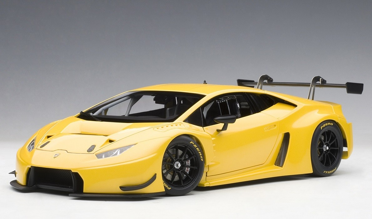 Yellow Lamborghini Huracan Gt3 Pearl Effect Autoart 81528 Scale 1 18