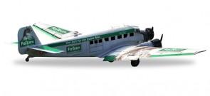 Falken Beer Bauerei Junker Ju-52 Reg# HB-HOP Herpa 019347 Scale 1:160