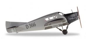 Junkers F.13 Luftverkehr Deutsches Museum München Die Cast Herpa 019378 Scale HO  1:87