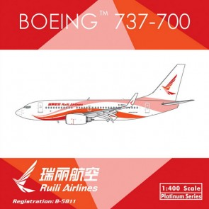 Ruili Airlines China  B737-700W Reg# B-5811 1:400 Phoenix