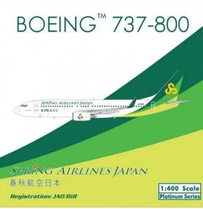 SALE! Spring Airlines Japan B737-800 JA03GR Phoenix 11220 Scale 1:400