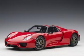Red Porsche 918 Spyder Weissach Package die-cast large AUTOart 12122 Scale 1:12