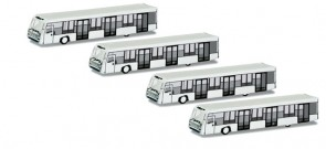 Herpa Scenix Airport Bus Set (4 pieces)