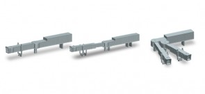 Set of 2 Adjustable Jet Bridges Wide & Narrow Body Herpa Wings Accessory 521031 Scale 1:500