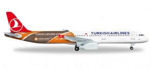 "Turkish Airlines A321""Euroleague"" TJ-JRO ""Uludag"" Herpa HE526876 1:500"