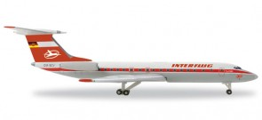 Interflug TU-134A Reg# DM-SCV 527095 Herpa Scale 1:500
