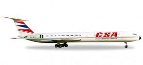 Herpa Wings dieacst metal model CSA Ilyushin IL-62M by Herpa 527194  Item: HE527194  1:500 scale.