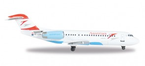Austrian Airlines Fokker F70 Herpa 527408 Scale 1:500