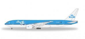 Boeing 777-200ER KLM - 95 Years Boeing 777-200LR Herpa 527545 Scale 1:500