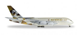 Etihad Airbus A380 With Satellite Dome! Reg# A6-APH Herpa 527712-002 1:500