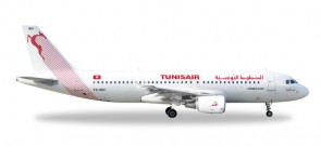 Tunisair (Tunisia) Airbus A320-200 HE527828 Scale 1:500