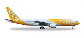 Scoot B777-200 Herpa HE527859 Scale 1:500
