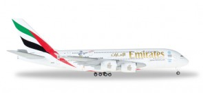 Emirates Airbus A380 Reg# A6-EEK Cricket World Cup Herpa 527897-001 Scale 1:500
