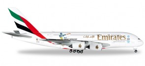 "Emirates Airbus A380 ""Cricket World Cup 2015"" HE527897 Scale 1:500"
