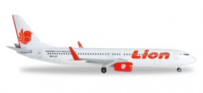 Lion Air Boeing 737-900ER Reg# PK-LJT Herpa Wings HE527996 Scale 1:500