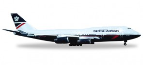 "British Airways Boeing 747-400 (Landor) ""City of London"" Reg# G-BNLA Herpa Wings HE528030 Scale 1:500"