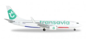Transavia Boeing 737-800 Reg# PH-HZI Herpa Wings 528054-001 scale 1:500