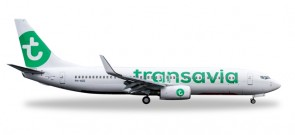 Transavia Boeing 737-800 (new colors) Reg# PH-HZE Herpa Wings HE528054 Scale 1:500