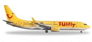 """TUIfly Boeing 737-800 """"Dürer & Klexi"""" Reg# D-AHFT Herpa Wings HE528177 Scale 1:200"""