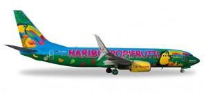 "TUIfly Boeing B737-800 ""Haribo Tropifrutti"" Reg# D-ATUJ Herpa Wings HE528191 Scale 1:500"