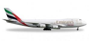 Emirates Sky Cargo Boeing B747-400F Reg# OO-THD Herpa Wings HE528207 Scale 1:500