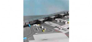 Amsterdam Airport Pier G & Pier H Corridor Herpa Wings Accessory HE528283 Scale 1:500