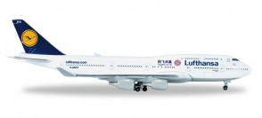 Lufthansa Boeing B747-400 **FC Bayern China Tour** Herpa Wings HE528306 Scale 1:500