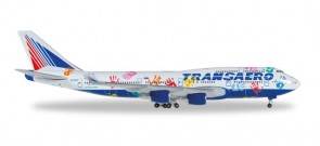 Transaero Boeing 747-400 Hands, Flight of Hope Die-Cast Reg# EI-XLO Herpa 528818 1:500