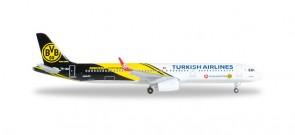 Turkish Airlines Borussia Dortmund Airbus A321 Reg# TC-JSJ Herpa 528825 Scale 1:500