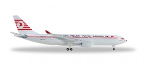 Retro Turkish Airlines Airbus A330-200 Reg# TC-JNC Herpa 529013 Scale 1:500