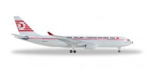 Retro Turkish Airlines Airbus A330-200 Reg# TC-JNC Herpa 529013 Scale 1:500