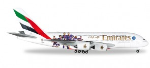 Emirates PSG Airbus A380 Reg# A6-EOT Paris St. Germain Football Club Herpa Wings 529440 Scale 1:500