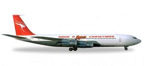 "Qantas B707-300C ""Have a Qantastic Christmas"" 1977 Reg# VH-EAB Herpa 529488 Scale 1:500"