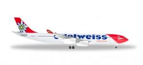 Edelweis Airbus A340-300 Reg# HB-JMG Herpa Wings 529495 Scale 1:500
