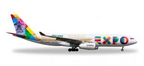 Etihad (Alitalia) Expo Milano Airbus A330-200 Reg# A6-EYH Herpa 529501 Scale 1:500