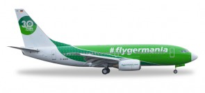 Germania 737-700 #Flygermania Reg# E-AGER Herpa 529518 scale 1:500