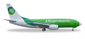 Germania 737-700 #Flygermania Reg# E-AGER Herpa 529518 scale 1:500
