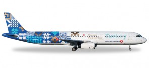 "Turkish Airbus A321 ""Discover Potential"" Reg# TC-JRG Herpa Wings 529532 Scale 1:500"
