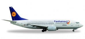 Lufthansa 737-300 Names Fanhansa Plane Euro Cup 2016 Reg# D-ABEK Herpa 529594 Scale 1:500