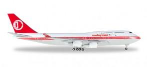 Malaysia Retro Boeing 747-400 Reg# 9M-MMP Herpa 529679 Scale 1:500