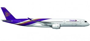 "Thai Airways Airbus A350-900 Reg# HS-THB ""Wichian Buri"" Die-Cast Herpa 529693 Scale 1:500"