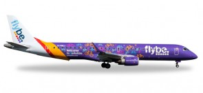 "Flybe Embraer E-195 Bicycles ""Welcome to Yorkshire"" Reg# G-FBEJ Herpa Wings 529792 Scale 1:500"