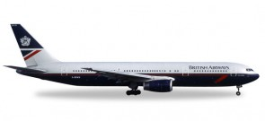 British Airways Boeing B767-300 Landor Tail Reg# G-BNWN Herpa Wings 529822 Scale 1:500