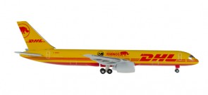 "DHL 757-200F Rhino ""Eliska Return to Africa"" Herpa 529976 Scale 1:500"