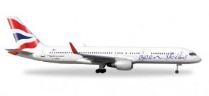 Open Skies by British Airways 757-200 Reg# F-HAVN Herpa 530019 Scale 1:500
