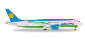 Uzbekistan Airways Boeing 787-8 Dreamliner Reg# UK78701 Herpa 530040 Scale 1:500